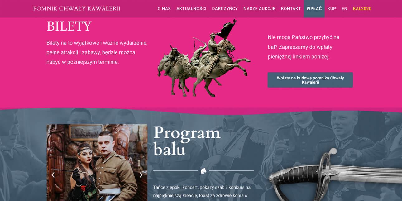 pomnik-strona-internetowa-podstrona-eventu