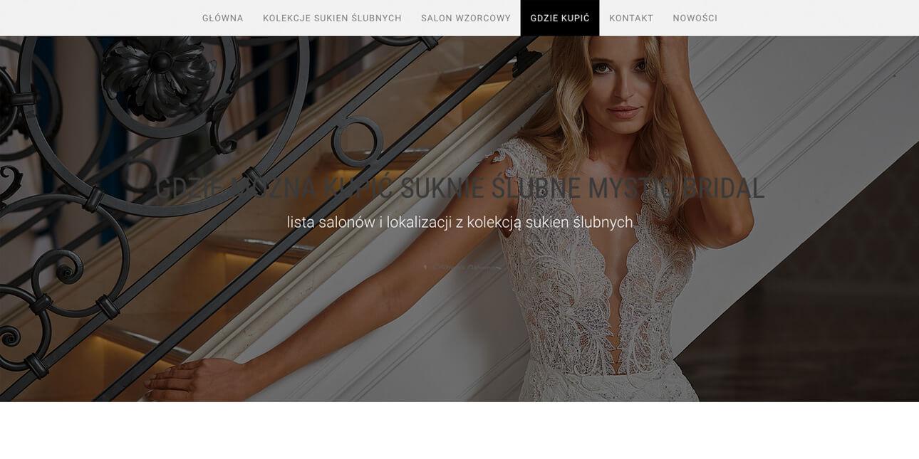 prducent-sukien-slubnych-mystic-bridalstrona-portfolio-kolekcja-wordpress