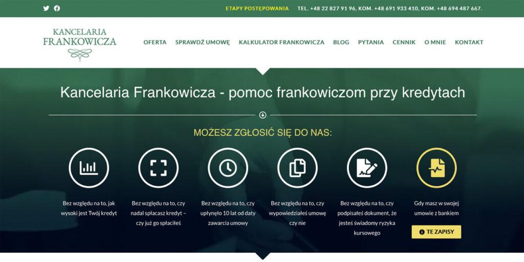Strona internetowa kancelarii prawniczej