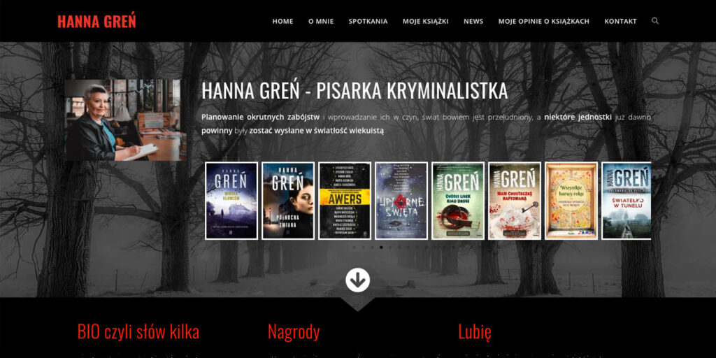 strona-dla-pisarki-hanna-gren-wordpress