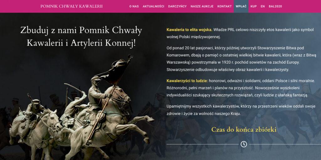 strona internetowa dla fundacji