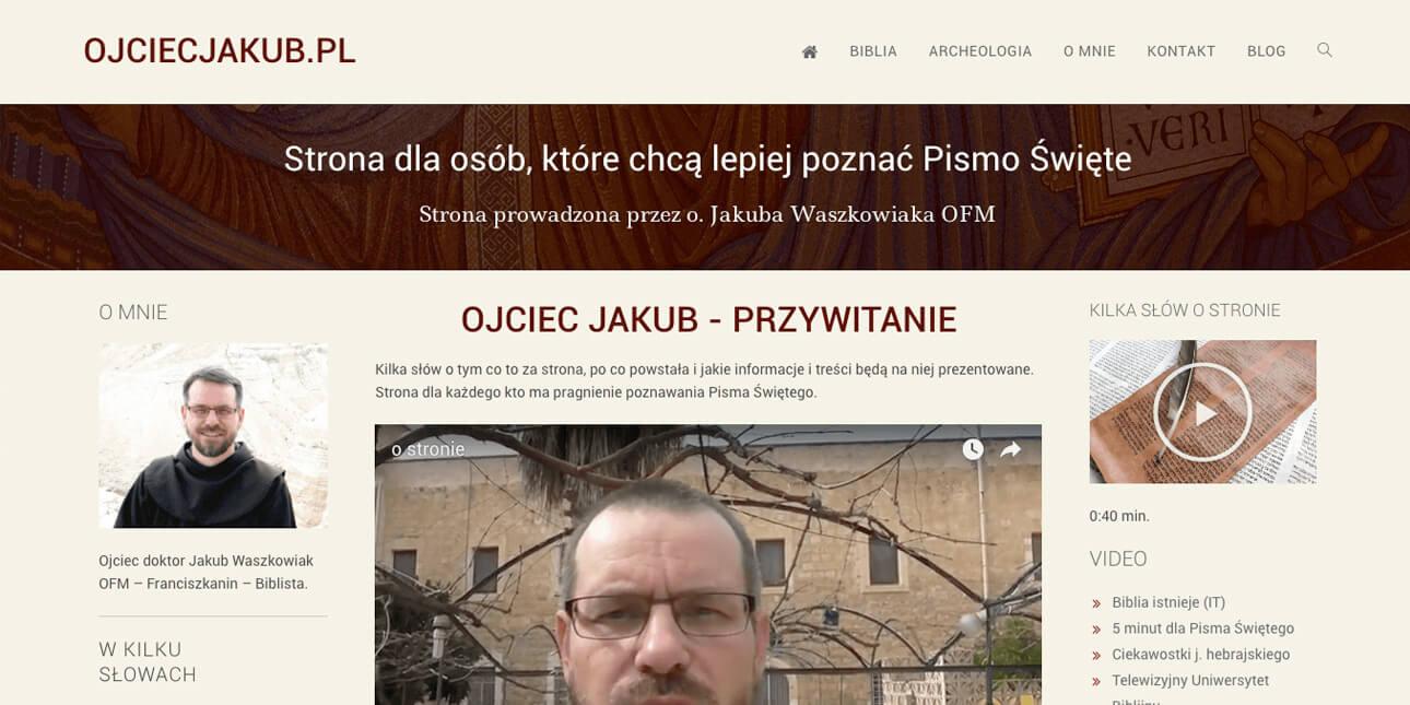 Strona osobista z blogiem - O. Jakub Waszkowiak OFM
